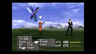 Final Fantasy VIII Steam (2013) No Level Let's Play Pt. 1 Fire Cavern