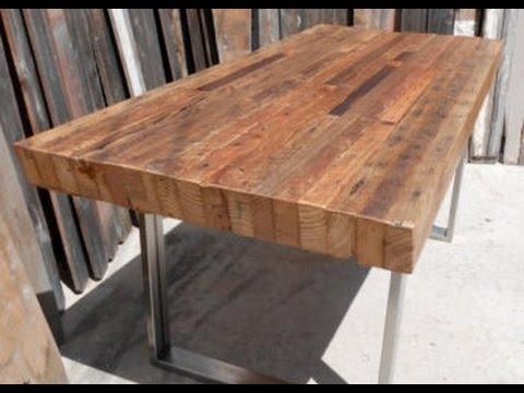 Reclaimed Wood Tables Ideas - YouTube