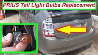 Toyota Prius Tail Light Turn Signal Light Brake Light Bulb Replacement 2004 - 2009