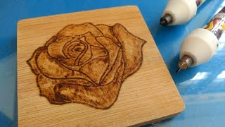 How to do Wood burning of designs on coasters with Cutart Pyrography pens