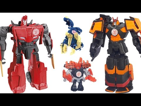 Mini-Con Robots Fight! Transformers Robots in Disguise Autobots, Drift, Bumblebee, Sideswipe