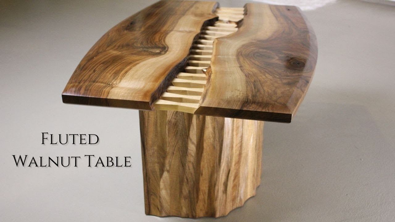 Walnut Coffee Table.Stitched Coffee Table Making Walnut Coffee Table W Fluted Base