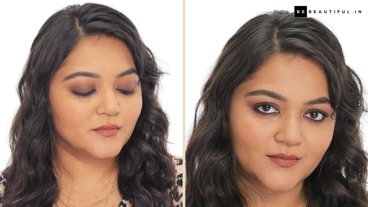 Smokey Eye For Beginners In Hindi   Step By Step Eyeshadow Tutorial   Eye Makeup   Be Beautiful
