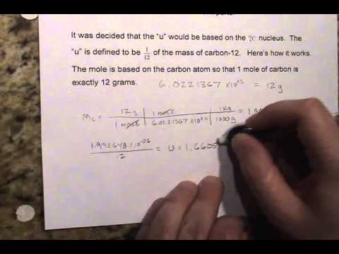 Topic 6 3 part a   atomic mass unit