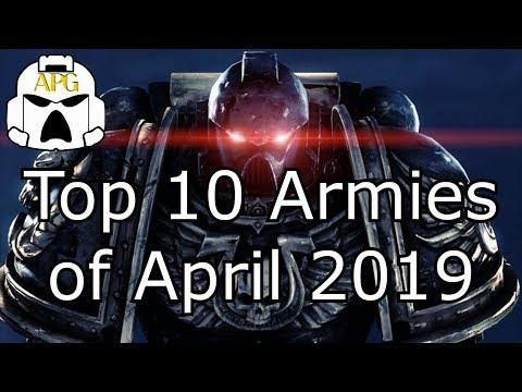 Top 10 Warhammer 40k Armies of April 2019