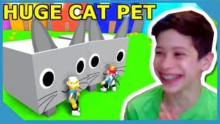 Sorprendente mi pequeño sobrino con la enorme mascota gato en Roblox Pet Simulator