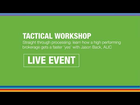 Tactical Workshop - Straight through processing
