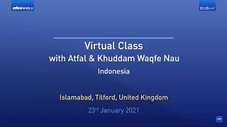 Virtual Mulaqat | Indonesia | Waqfe Nau Boys | Translation | Tamil