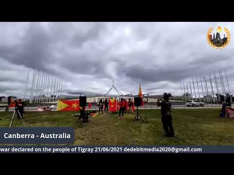 A massive rally in Canberra (Australia) against the genocidal war declared on the people of  Tigray