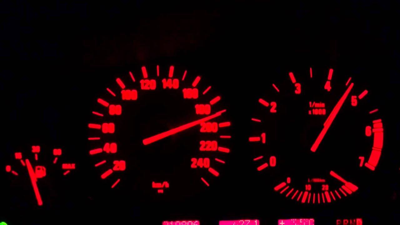 BMW E39 535i V8 acceleration 0 220 km h