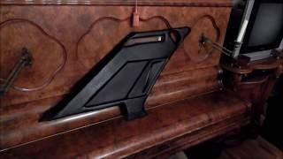 Перетяжка задних стоек кожей с эксклюзивным дизайном. Тюнинг салона мерседес W124.