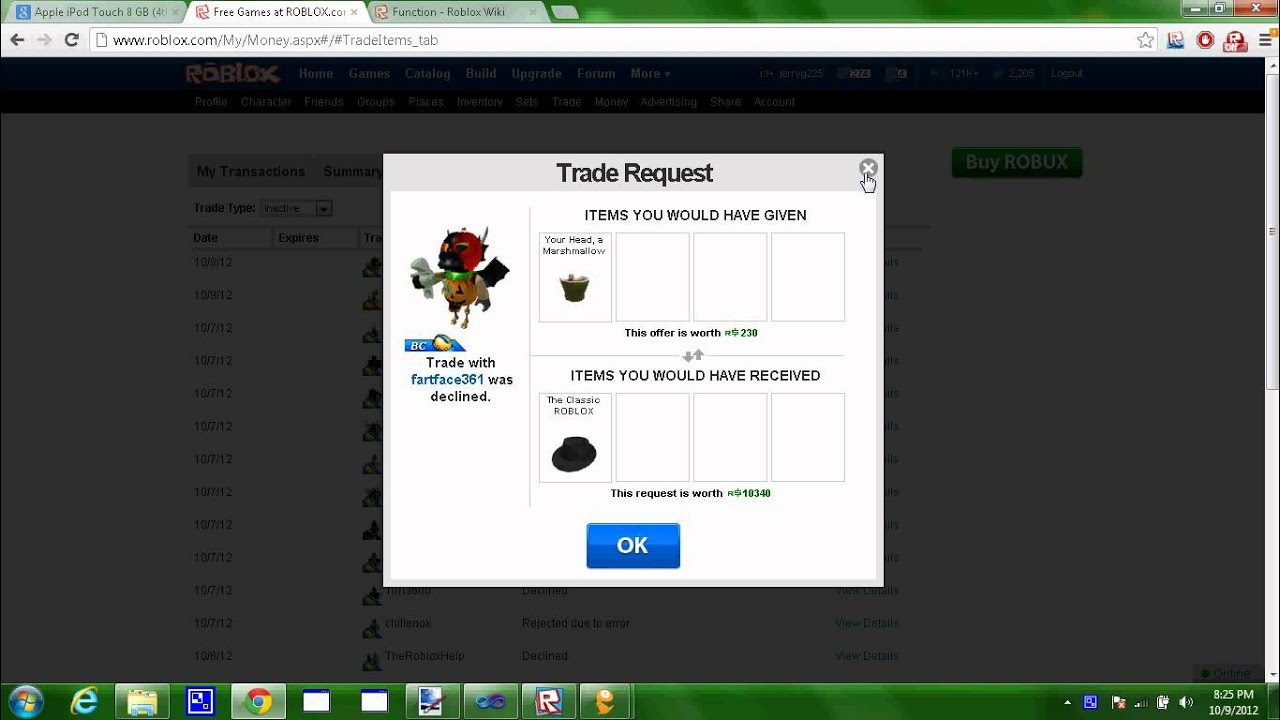Roblox Amazing Trade Fail Class Fedora For Your Head A