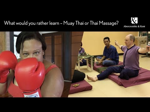 Thai Massage Vs Muay Thai Boxing - We Learn New Traditional Crafts In Phuket