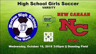 Darien Varsity Girls Soccer vs. New Canaan