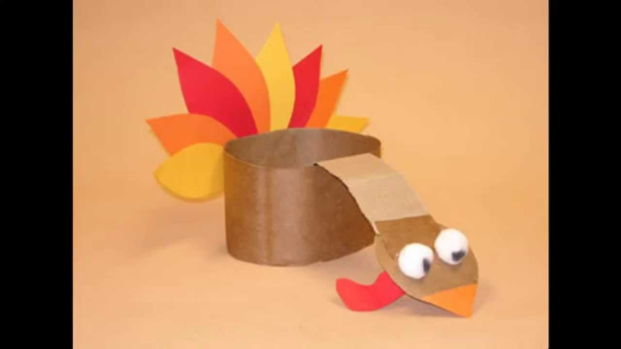 Construction paper thanksgiving crafts youtube