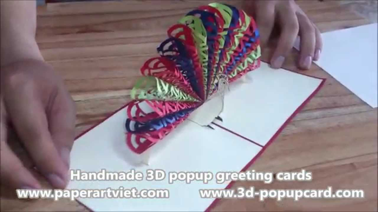 Pop Up 3d Greeting Card Paper Art Viet Coltd