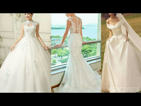 beautiful-white-wedding-dresses-collection-2019-||-white-bridal-gowns/frocks