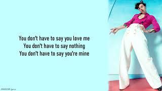 Harry Styles - Adore you lyrics