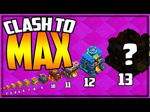 Clash To MAX! MAXING Town Hall 2 To 13 In Clash Of Clans! Episode 2