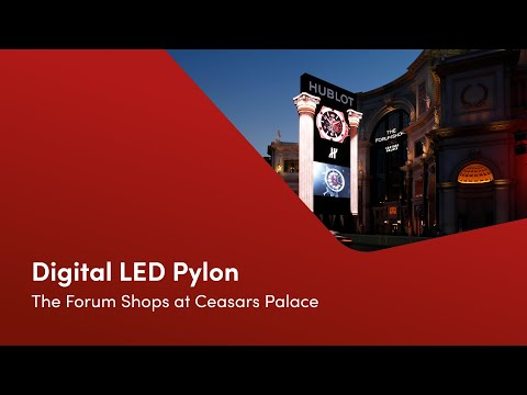 Digital Marquee (LED Pylon) - The Forum Shops: Caesars Palace | Las Vegas | 4K UHD