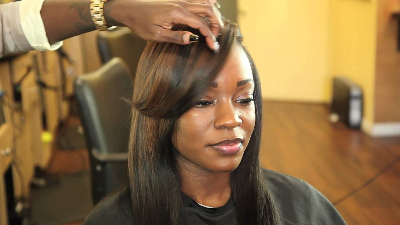 Short Hairstyle With Color Clip Extensions