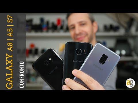 CONFRONTO Galaxy A8 S7 e A5 2017