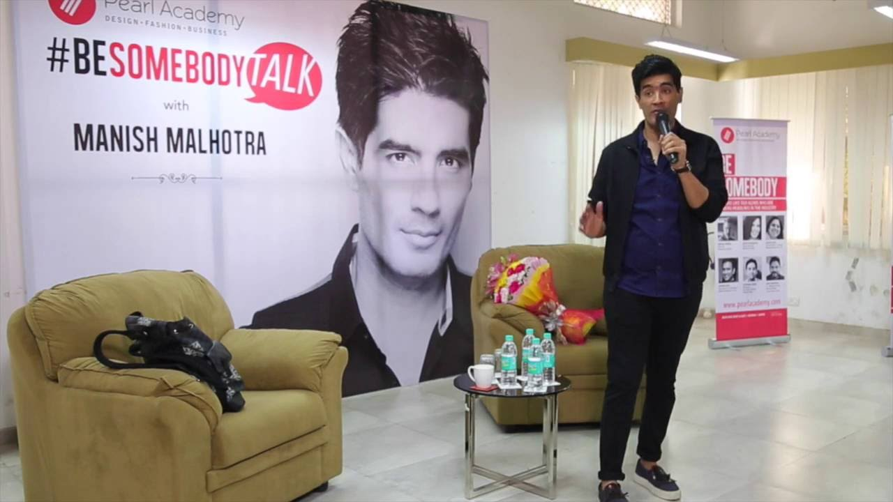 Manish Malhotra For Besomebody Talk In Mumbai Campus Youtube
