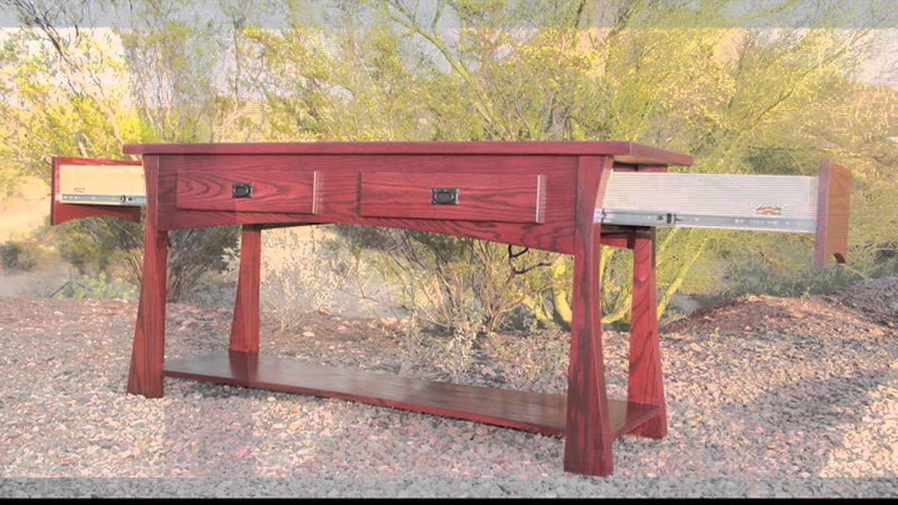 Gun Concealment Sofa Table by Top Secret Furniture secret