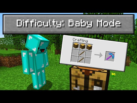 """I Played Minecraft on """"Baby Mode"""" Difficulty..."""