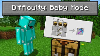 "I Played Minecraft on ""Baby Mode"" Difficulty..."