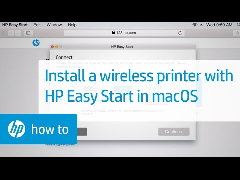 How To Install an HP Printer Using a Wireless Connection and HP Easy Start in macOS