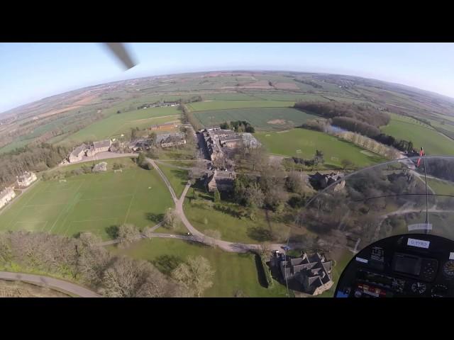 flight to enstone via kingham in a magni m16 gyroplane
