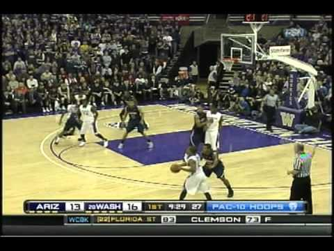 Washington Huskies vs. Arizona Wildcats Basketball 2011 Part 1