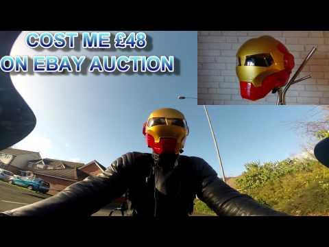 IRON MAN MOTORCYCLE HELMET REVIEW (MASEI)