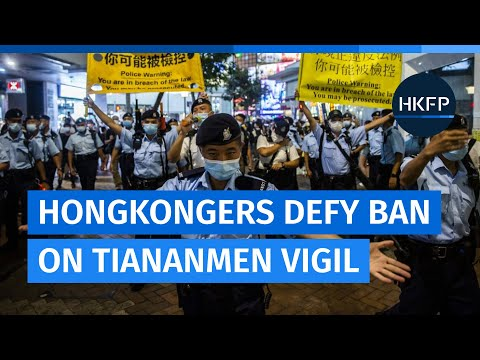 Hongkongers defy ban on Tiananmen Massacre vigil: 'I want to take as many steps as possible'