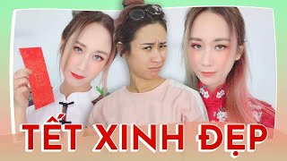 TẾT MAKEUP | GRWM LUNAR NEW YEAR MAKEUP | HƯƠNG WITCH