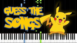 Guess the Music! Pokémon Piano Edition (50 Pokémon Songs Quiz)