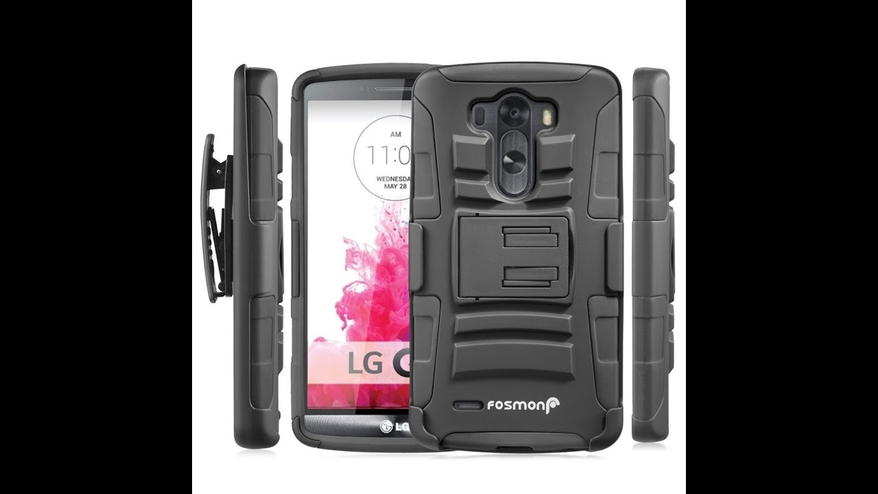 Fosmon STURDY Shock Absorbing Dual Layer Hybrid Holster Cover Kickstand Case for LG G3 Review