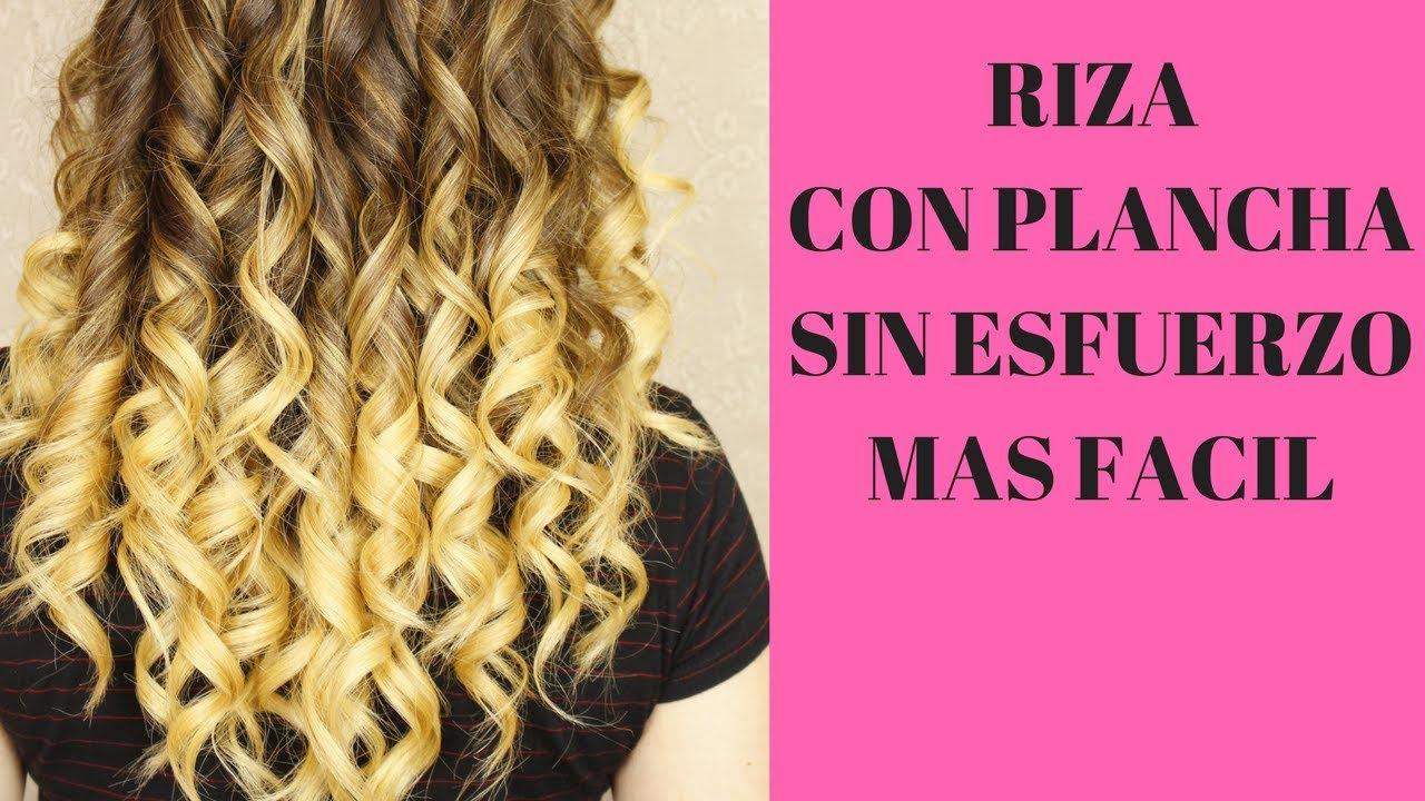 Como Rizar Tu Pelo Con Planchas Sin Esfuerzo Y Muy Fácilhow To Curl Your Hair