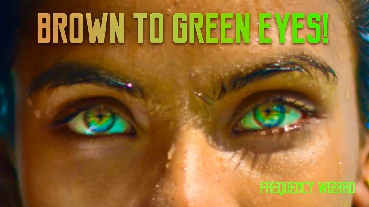Brown To Amazing Sea Green Eyes Transformation Biokinesis Subliminal
