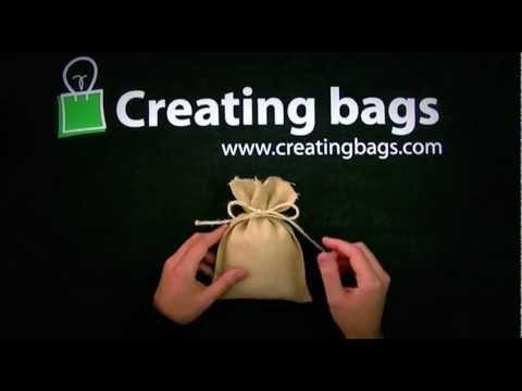 Saco de tela de yute youtube - Bolsitas de tela de saco ...