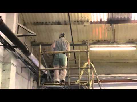spray-foam-insulation-on-to-asbestos-sheeting