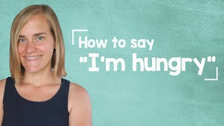 """German Lesson (39) - """"How to Say I'm Hungry"""" - German Vocab and Useful Expressions - A1/A2"""
