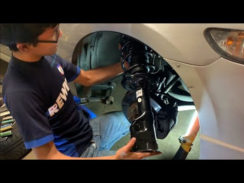 How To Install Front RH Strut & Spring Assembly Honda Civic 2006-2011 8th Gen With Aftermarket Parts