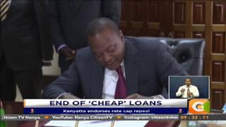 Kenyatta endorses interest rates cap repeal