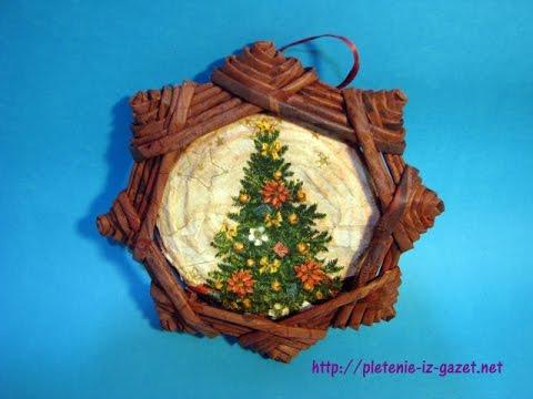 Una estrella navidena lienzo adorno navideno etiqueta for Estrella de nieve