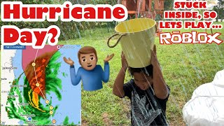 Hurricane Dorian | Where are you? - Kids Play Roblox While We Wait For The Hurricane