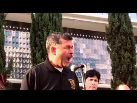 Javier Bonales, Vice President, Teamsters Local 396 Speaks at WeHo Hyatt Strike Rally