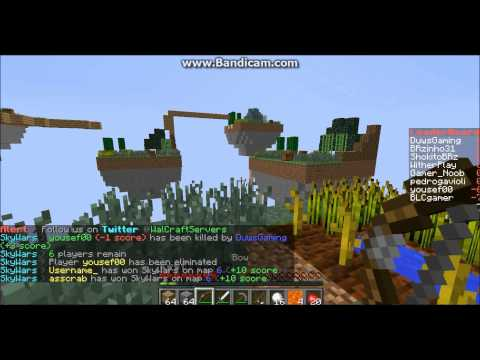 Minecraft #2 Skywars on Wal - Craft Server!