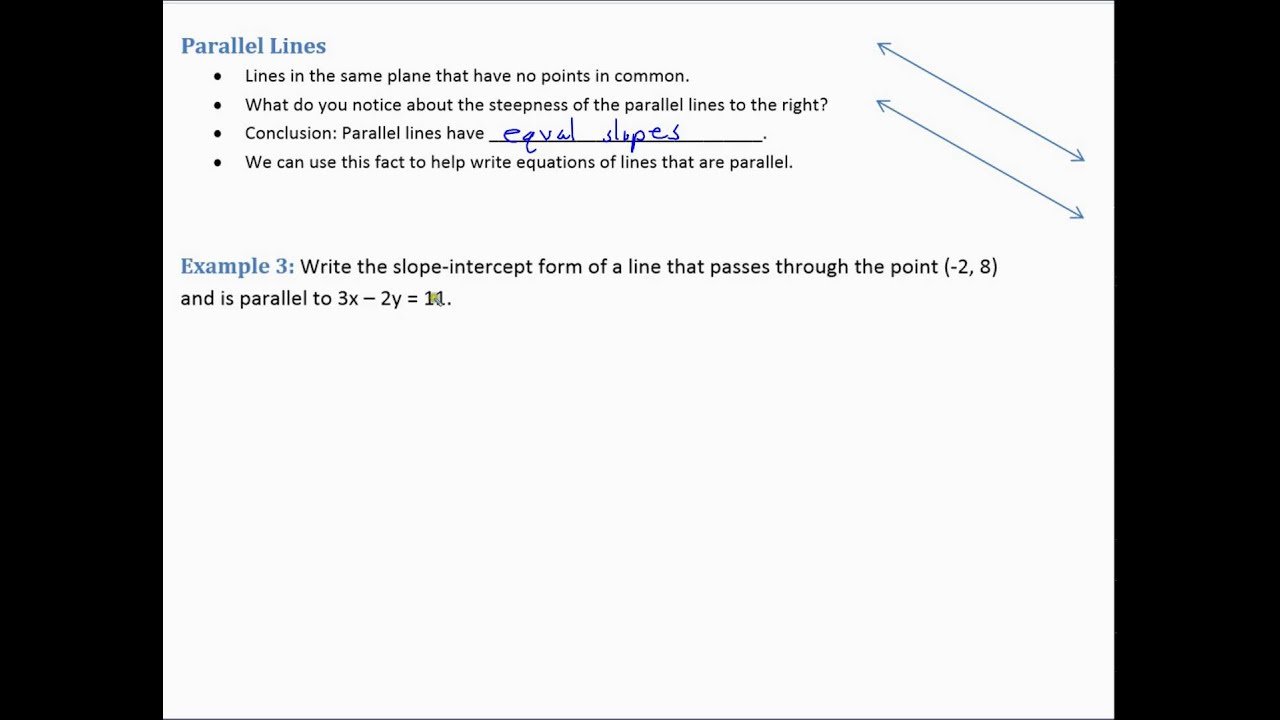 Algebra 1 lesson 65 parallel and perpendicular lines using algebra 1 lesson 65 parallel and perpendicular lines using point slope form falaconquin